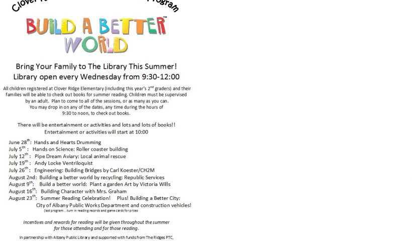 Build a better world flyer